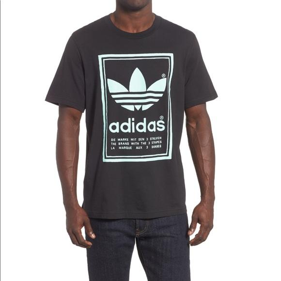 adidas 3 streifen t shirt mint